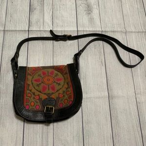 Fossil Rare Tapestry Leather Purse